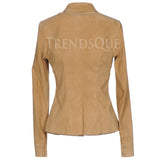 Nude Suede Leather Shirt