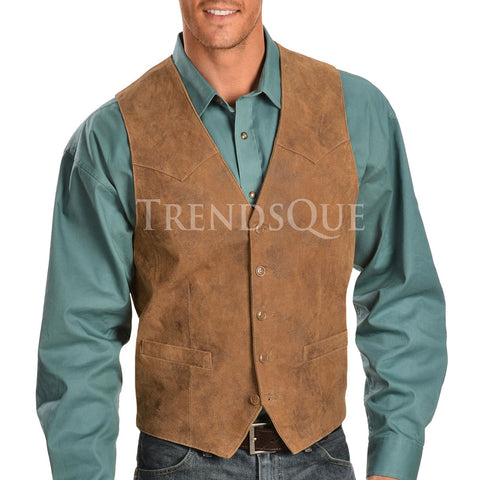 SUEDE LEATHER WESTERN VEST