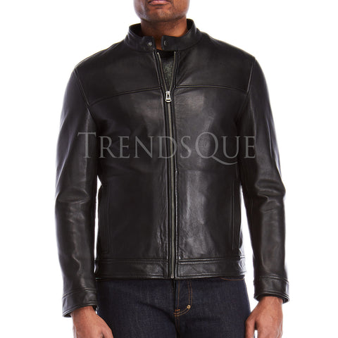 Faux Leather Men Jacket