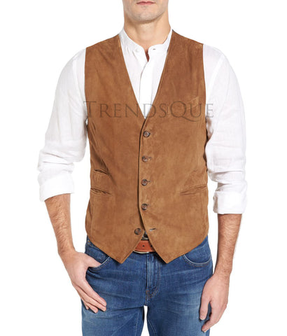 SUEDE LEATHER MEN VEST