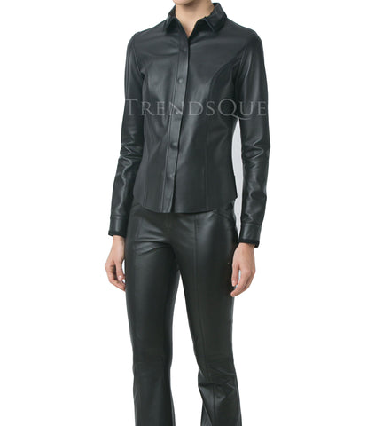 CORPORATE STYLE LEATHER SHIRT