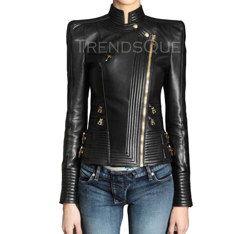 NEWLY DESIGN WOMEN LEATHER JACKET