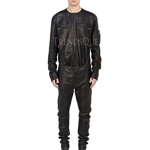 NEW TREND MEN LEATHER JUMPSUIT