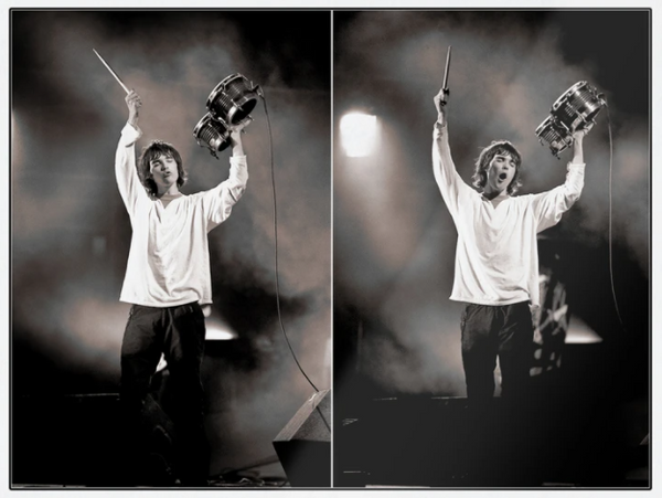 Ian Brown of the Stone Roses performing at the Spike Island festival