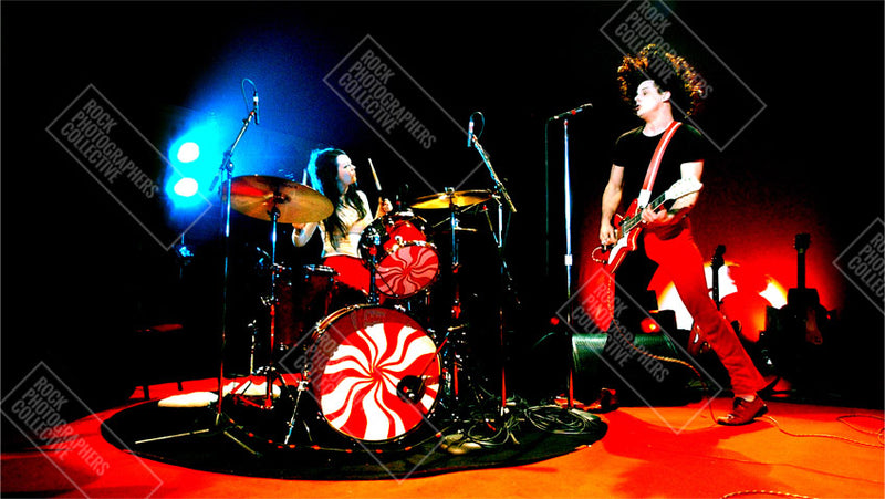 White Stripes live high contrast full colour Tote Bag