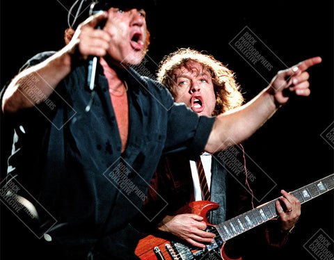 AC/DC live - Brian Johnson and Angus Young Art Print