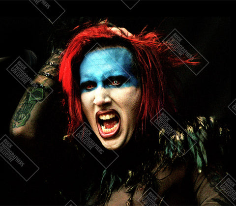 Marilyn Manson live head shot Art Print