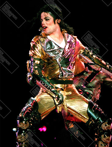 Michael Jackson live, gold suit close up Women's T-Shirt
