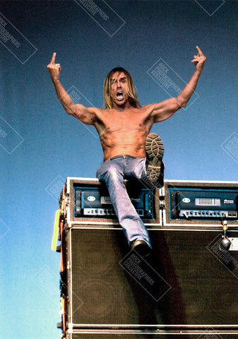 Iggy Pop top of amp stack Art Print