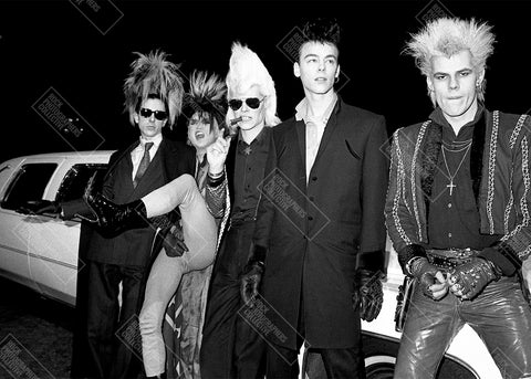 Sigue Sigue Sputnik b&w location shot AP Mug