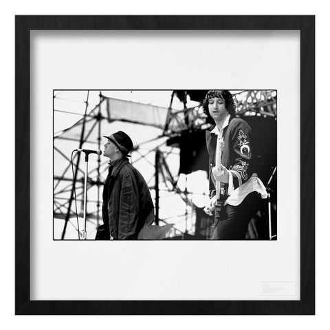 Michael Stipe and Peter Buckley REM live AP Art Print