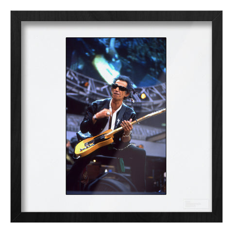 Keith Richards of The Rolling Stones, live Art Print
