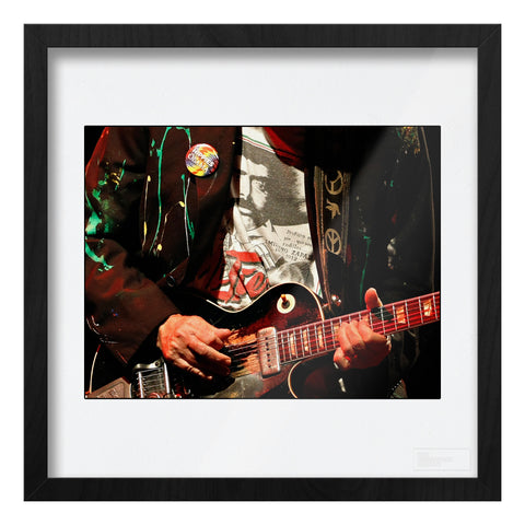 Neil Young live close-up guitar Art Print