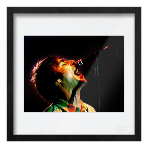 Oasis live, Liam Gallagher Art Print