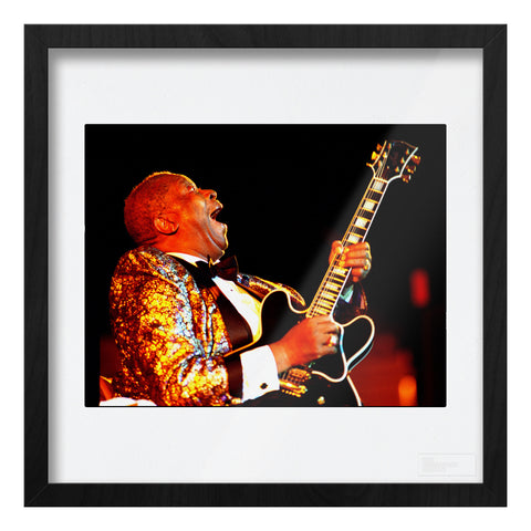 BB King live with black Gibson guitar Art Print