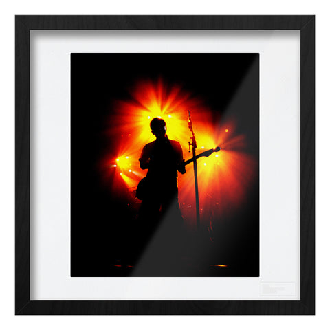 Radiohead live silhouette red & yellow light Art Print