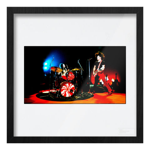 White Stripes live high contrast full colour Art Print