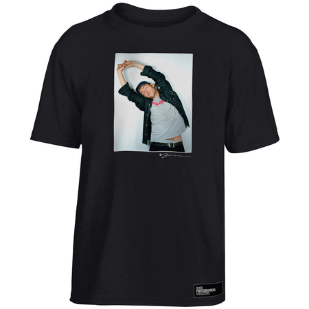 Damon Albarn Blur colour portrait Kids' T-Shirt Black