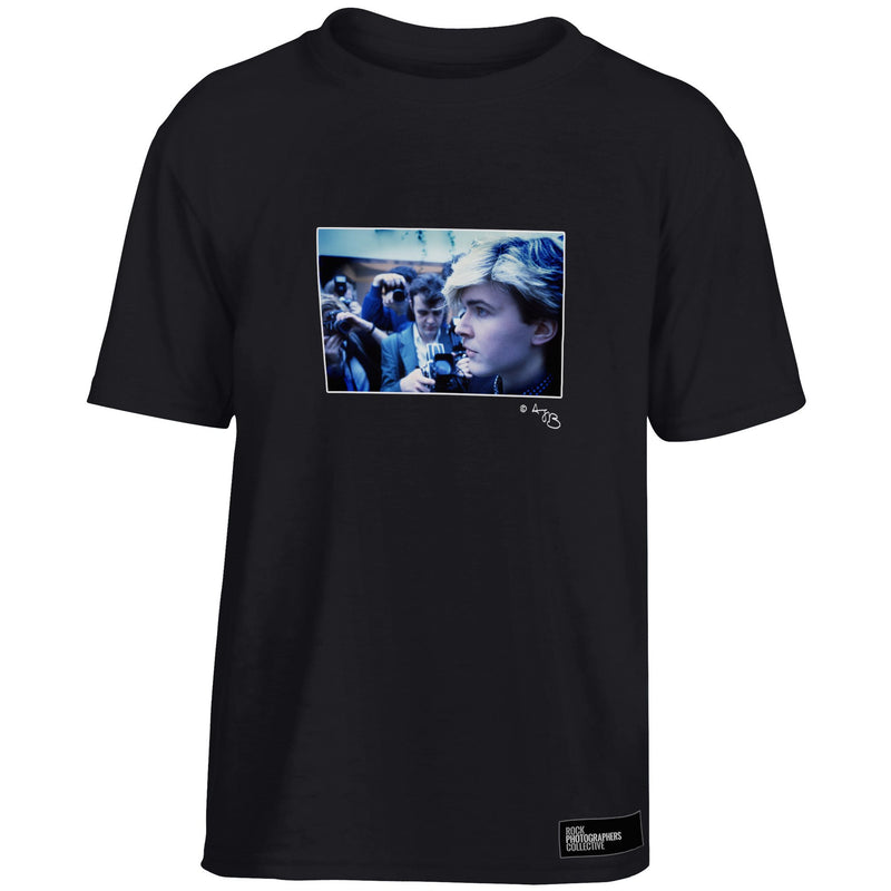David Sylvian Japan 1984 profile (AJB) Kids' T-Shirt Black