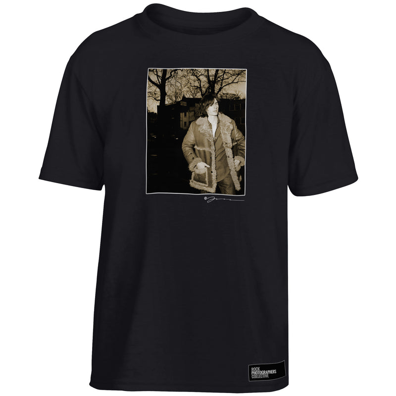 Bernard Butler sepia location portrait Kids' T-Shirt Black