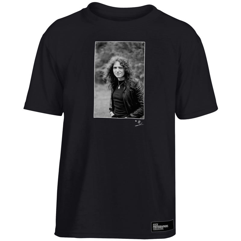 David Coverdale b&w location portrait Kids' T-Shirt Black