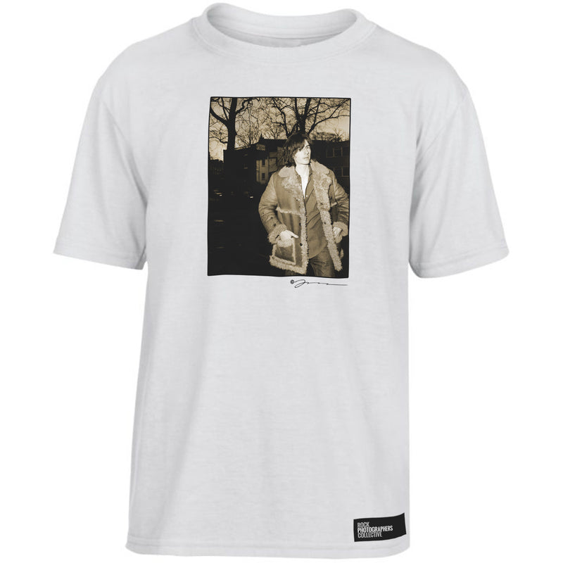 Bernard Butler sepia location portrait Kids' T-Shirt White