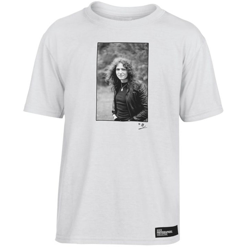 David Coverdale b&w location portrait Kids' T-Shirt White