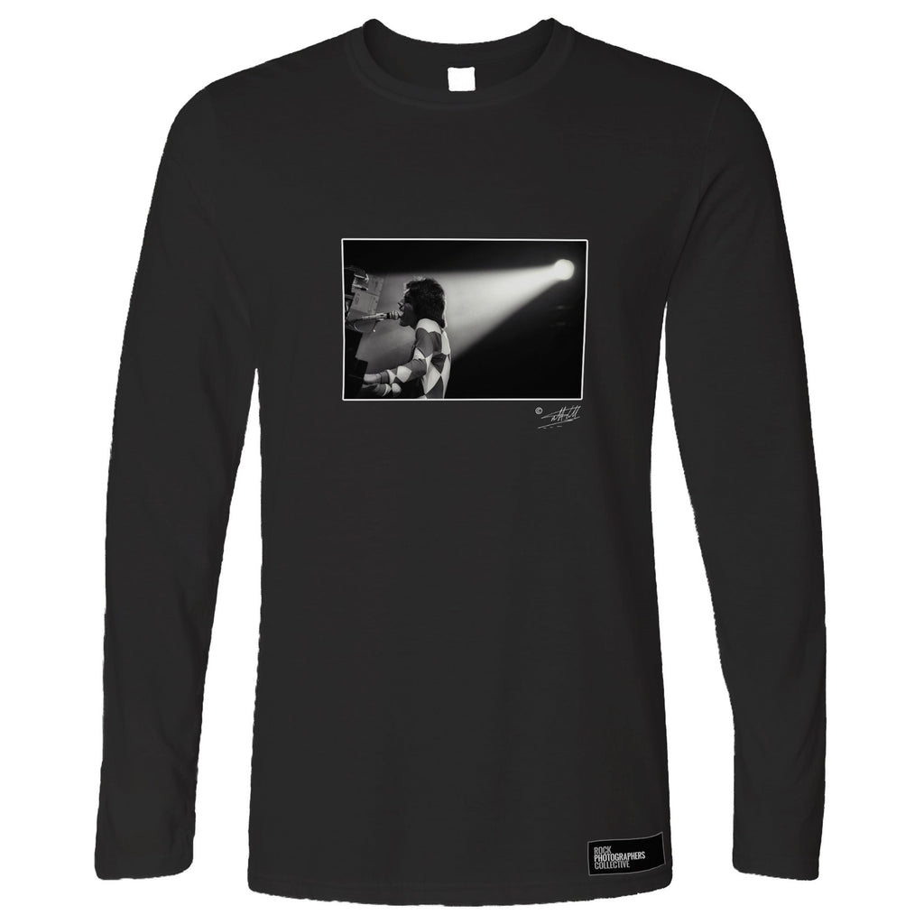 Freddie Mercury Black and White Rock Long Sleeve