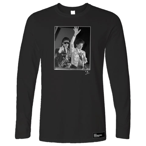 Michael Jackson with waxwork AP Long Sleeve