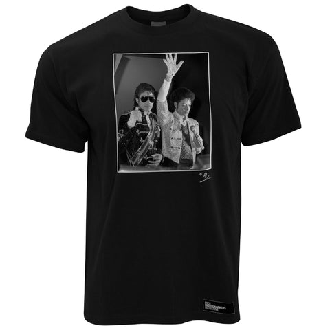 Michael Jackson with waxwork AP Men's T-Shirt