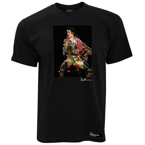 Michael Jackson live, gold suit close up Men's T-Shirt