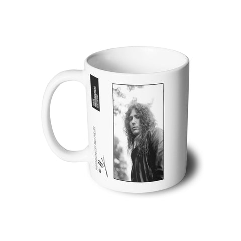 David Coverdale b&w close-up portrait AP Mug