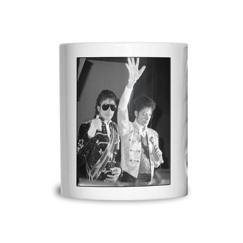Michael Jackson with waxwork AP Mug