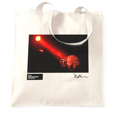 Robert Plant live at mic eyes closed Tote Bag