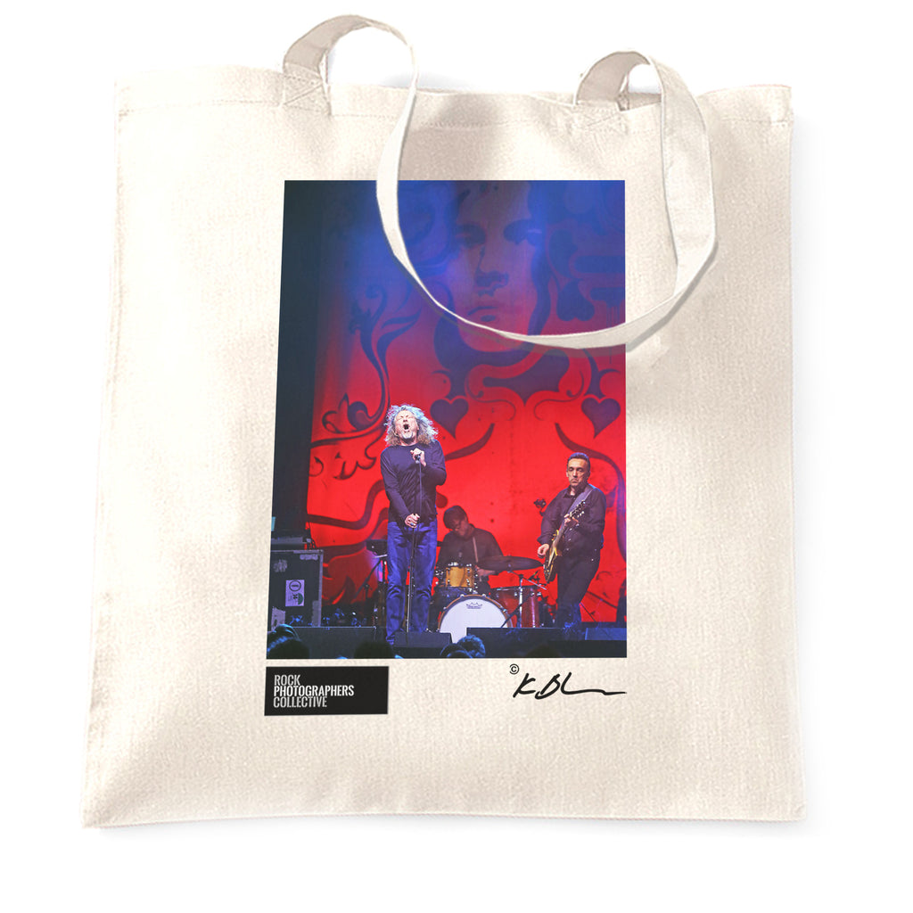 Robert Plant live with band Tote Bag