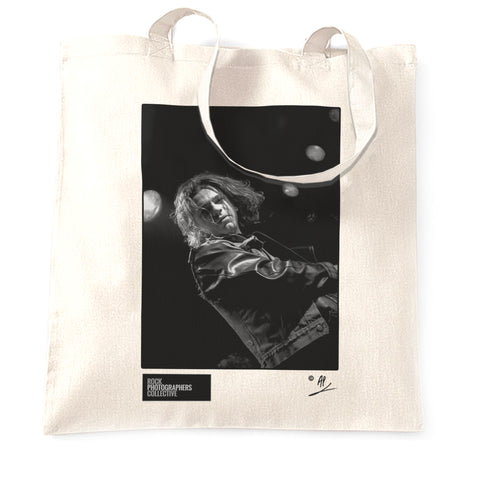 Michael Hutchence live (1) 1985 AP Tote Bag