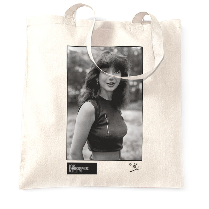 Kate Bush, portrait in London (1) 1980, AP Tote Bag