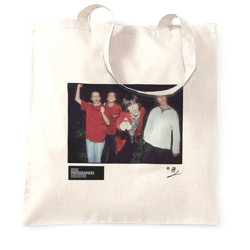 The Stone Roses, band portrait, 1990, AP Tote Bag