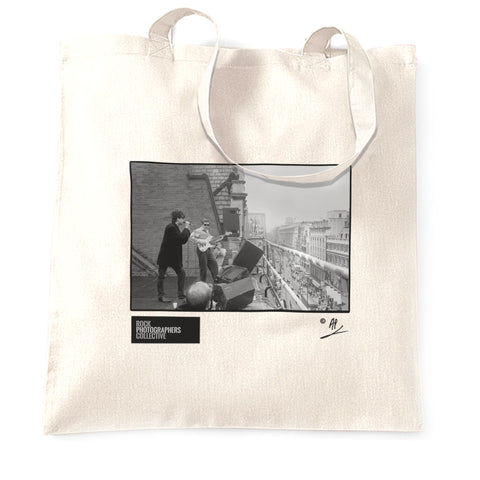 Echo/Bunnymen roof of HMV 1980 AP Tote Bag