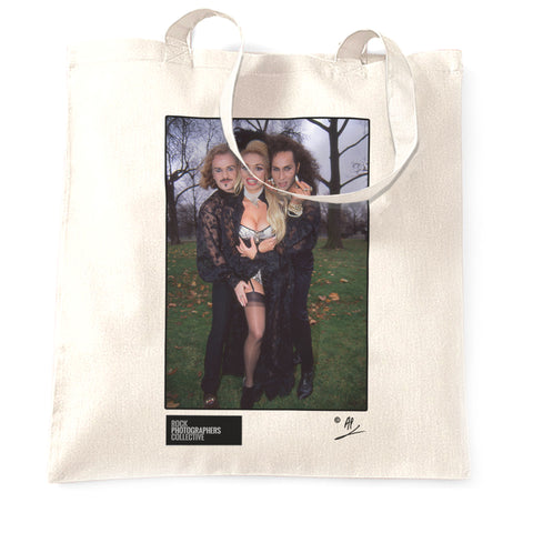 Army Of Lovers location shot, London. AP Tote Bag