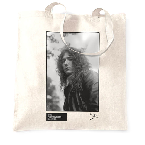 David Coverdale b&w close-up portrait AP Tote Bag