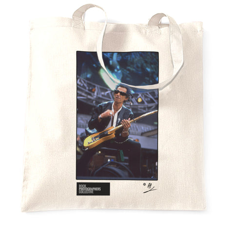 Keith Richards of The Rolling Stones, live Tote Bag