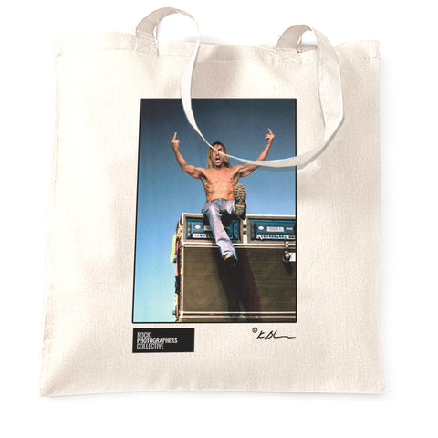 Iggy Pop top of amp stack Tote Bag