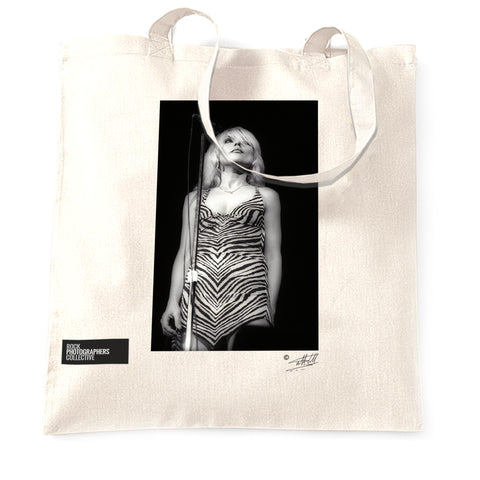 Debbie Harry - Blondie (3) Tote Bag. B&W.