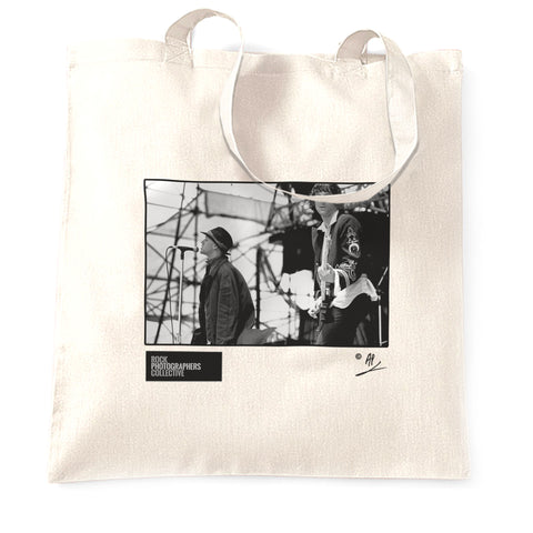 Michael Stipe and Peter Buckley REM live AP Tote Bag