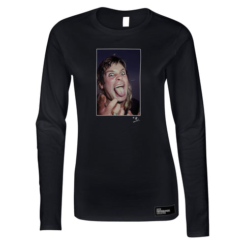Ozzy Osbourne at Donnington 1984 Women's Long Sleeve