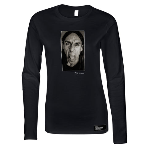 Iggy Pop, close-up, London, 1993 (SdB) Women's Long Sleeve