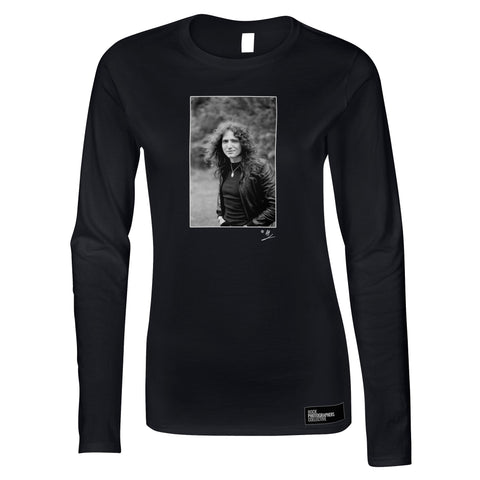 David Coverdale b&w location portrait AP Women's Long Sleeve