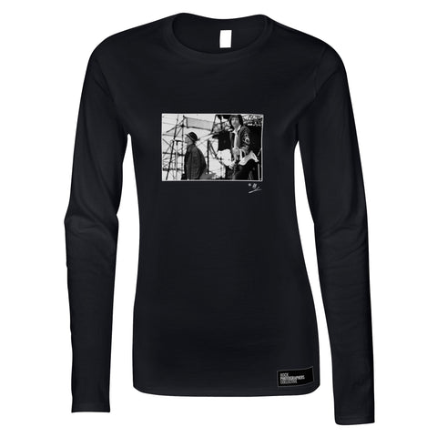 Michael Stipe and Peter Buckley REM live AP Women's Long Sleeve