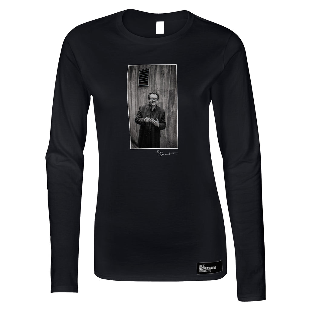 Elvis Costello, Dublin, 1996 (SdB) Women's Long Sleeve